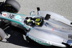 Nico Rosberg shakedown al Mercedes AMG W04