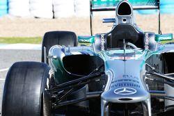 De nieuwe Mercedes AMG F1 W04 sidepod detail