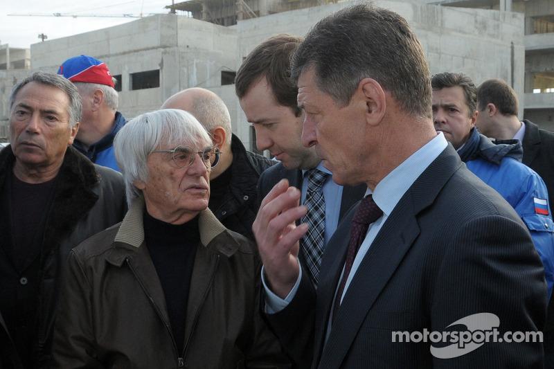 Bernie Ecclestone bezoekt Sochi