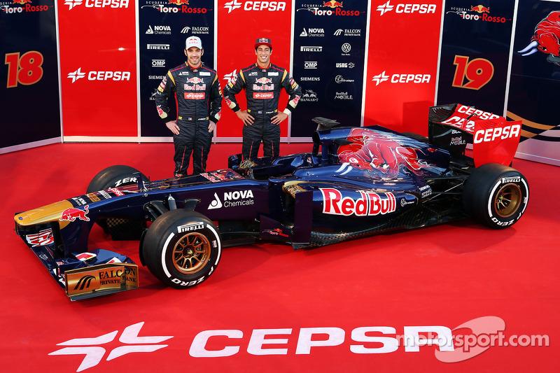 2013 - Toro Rosso, Daniel Ricciardo e Jean-Eric Vergne