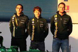 Cyril Abiteboul, Teamchef, mit Charles Pic und Giedo van der Garde