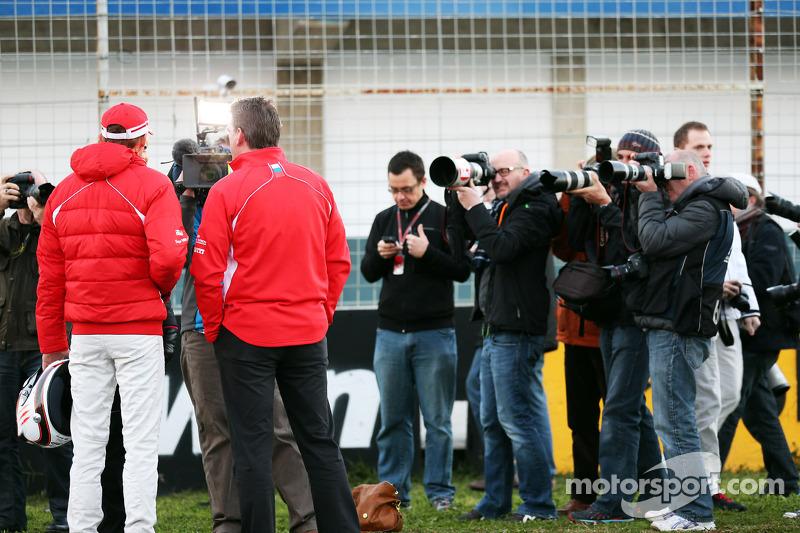 Макс Чилтон. Презентация Marussia MR02, Презентация.