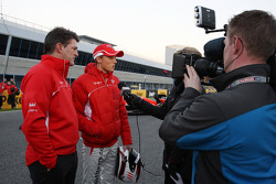 Max Chilton, Marussia F1 Team and Graeme Lowdon, Marussia F1 Team Chief Executive Officer with the m