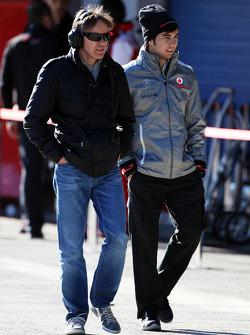 Sergio Pérez, McLaren con Adrián Fernández