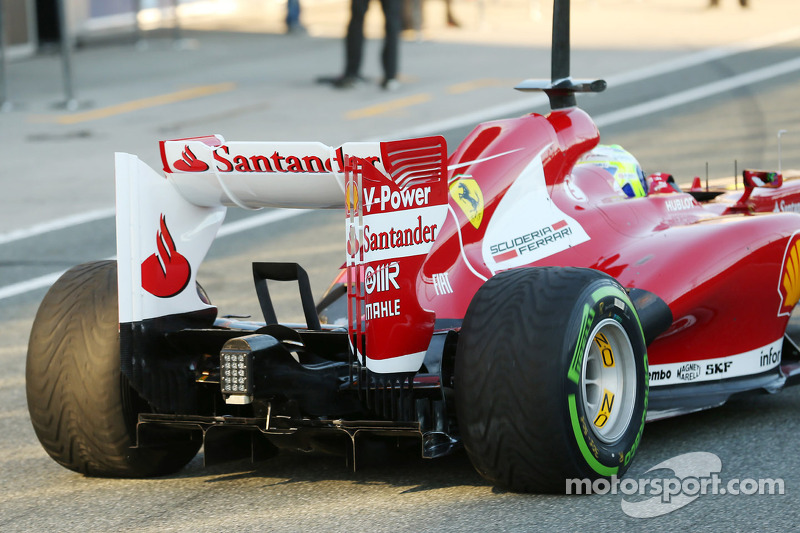 Felipe Massa, Ferrari rear wing and rear diffuser