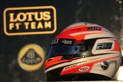 Le casque de Romain Grosjean, Lotus F1 Team