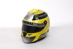 Le casque de Nico Rosberg, Mercedes AMG F1