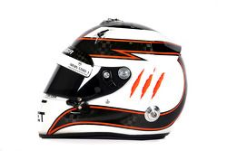 Le casque de Max Chilton, Marussia F1 Team