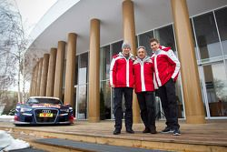 Edoardo Mortara en Mattias Ekström onthullen Audi's 2013 DTM-bolide