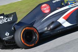Esteban Gutierrez, Sauber C32 exhaust