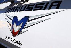 Marussia F1 Team logo on a truck