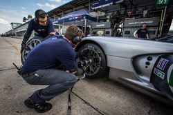 SRT Motorsports team members at work