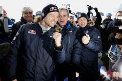 Winner Sébastien Ogier, Volkswagen Motorsport with Carlos Sainz
