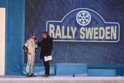 Podium: winner Sébastien Ogier