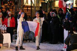 Podium: winners Sébastien Ogier and Julien Ingrassia, Volkswagen Polo WRC, Volkswagen Motorsport