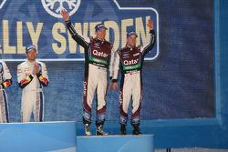 pódio: terceiro colocado Mads Ostberg e Jonas Andersson
