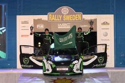 Podium: Yazeed Al Rajhi and Mathieu Baumel, Ford Fiesta S2000
