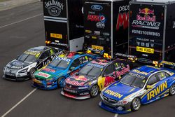 Nissan, Ford, Holden and Mercedes challengers
