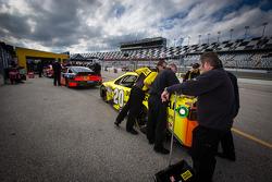 Car of Matt Kenseth, Joe Gibbs Racing Toyota at technical inspection