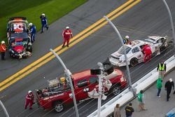 Darrell Wallace after the crash