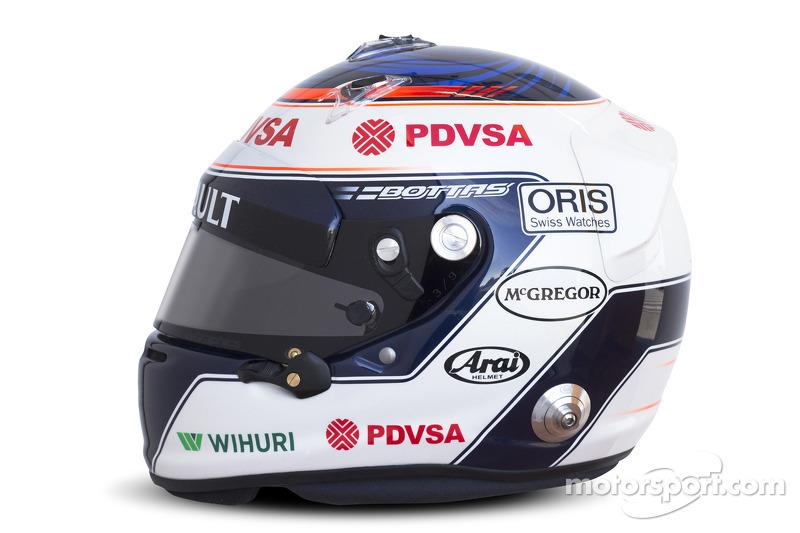 Helm von Valtteri Bottas, Williams F1