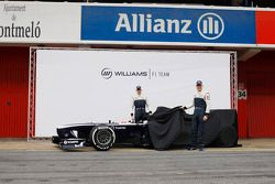 Pastor Maldonado, Williams and team mate Valtteri Bottas, Williams unveil the new Williams FW35