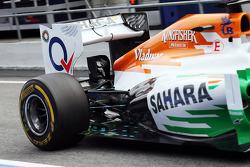 Sahara Force India F1 VJM06 rear suspension running sensor equipment