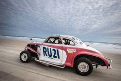 Les voitures vintage sur la plage