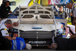 Car of Josh Wise, Front Row Motorsports Ford at technical inspection