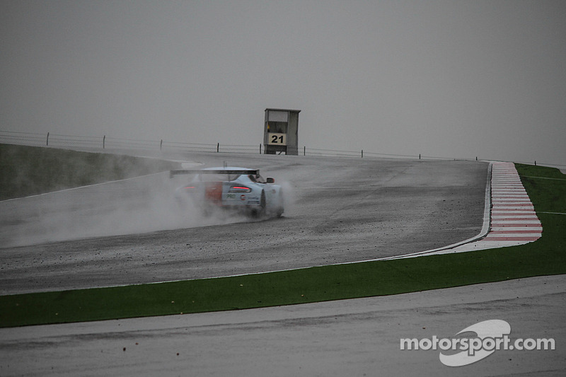 The Aston Martin GTE in the rain