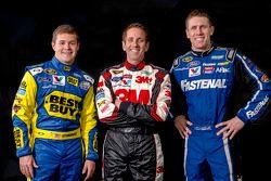 Ricky Stenhouse Jr., Greg Biffle en Carl Edwards