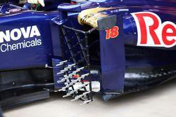 Equipo de sensores del Scuderia Toro Rosso STR8