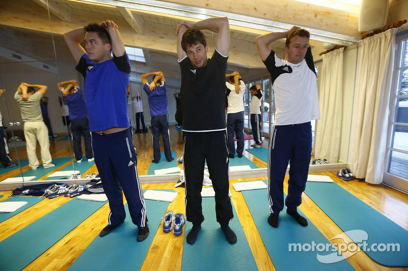 Андре Лоттерер, Марсель Фэсслер и Лоик Дюваль. Зимний лагерь Audi, особое событие.