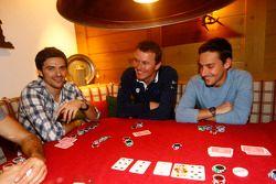 Marco Bonanomi, Marcel Fässler et Filipe Albuquerque