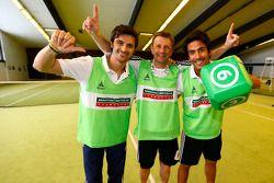 Marco Bonanomi, Allan McNish et Filipe Albuquerque