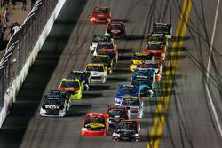 Johnny Sauter and Ty Dillon battle for the lead