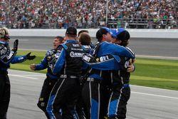 The Hendrick crew celebrates Jimmie Johnson's win