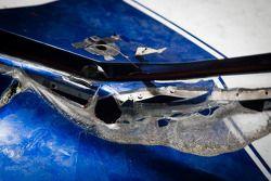 2013 Daytona 500 winning car of Jimmie Johnson, Hendrick Motorsports Chevrolet, damage detail