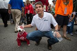 David Ragan, Front Row Motorsports Ford with Bullseye the Target dog