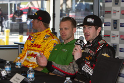 Ryan Hunter-Reay, Andretti Autosport, Ed Carpenter, Ed Carpenter Racing et J.R. Hildebrand, Panther Racing