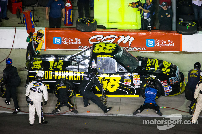 Pit stop Clay Greenfield