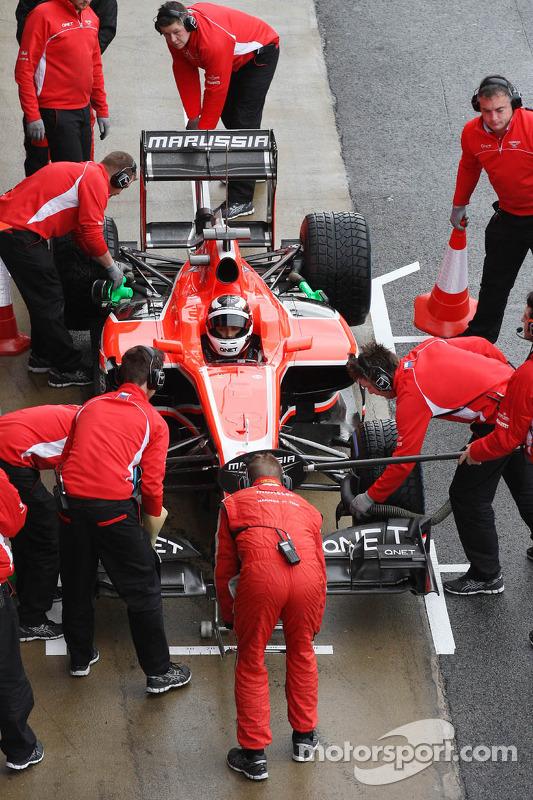 Max Chilton, Marussia F1 Team MR02 nos pits