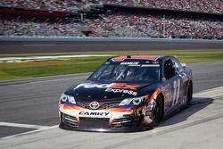 Denny Hamlin, Joe Gibbs Racing Toyota back in the pits with damage
