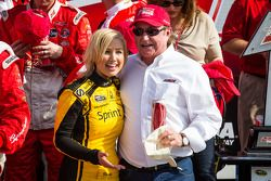 Victory lane: Richard Childress with a Sprint girl