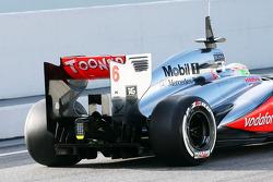 Sergio Pérez, McLaren MP4-28 trasero ala y difusor trasero