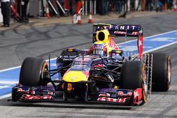 Equipo de sensores del Red Bull Racing RB9 de Mark Webber