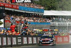 Craig Lowndes, Red Bull Holden takes the checkered flag