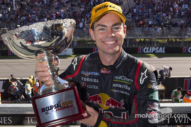Podium: race winner Craig Lowndes, Red Bull Holden