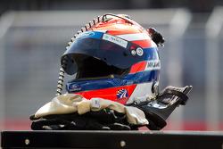 O capacete de Ian James