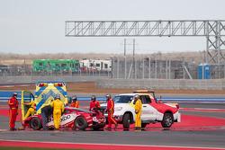 Problemaa para #69 AIM AutoSport Team FXDD com Ferrari Ferrari 458: Emil Assentato, Anthony Lazzaro